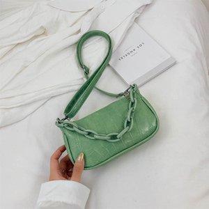2020 new women's handbag spring and summer wild ladies shoulder bag net red messenger baguette bag foreign handbag