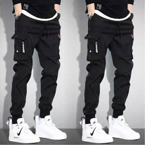 Men's Pants LKSXSCL Vintage 2021 Cargo Men Hip Hop Khaki Black Pockets Joggers Man Korean Fashion Autumn Sweatpants