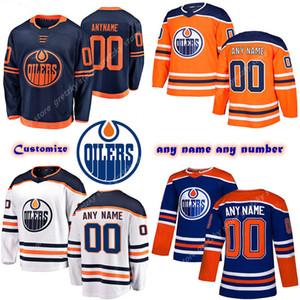 Пользовательские мужские дети женские эдмонтонские масленицы майки 97 CONNOR MCDAVID 74 Ethan Bear 44 Kassian настроить любое число любое имя хоккейное джерси