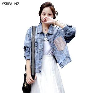 2020 Джинсовые куртки Женская одежда Синий Короткие Жан пальто Женская одежда весна осень Корейский моды BF Сыпучие Vetement Femme