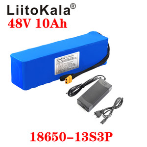LiitoKala 48V 10ah 13s3p High Power 18650 Battery Electric Vehicle motocicleta elétrica DIY Battery BMS Proteção XT60 plug