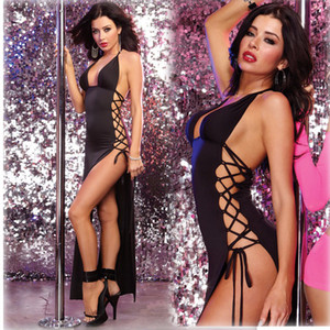 2020 Sexy Underwear perspective of European and American erotic lingerie pajamas wearing black style dress