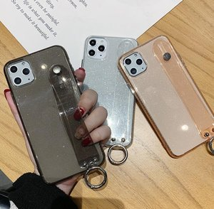 Luxury Transparent Wristband Glitter Phone Case for IPhone 11 Pro Max X Xsmax 7 8 6 6S plus Anti-shock Soft TPU Back Cover Cases wholesale