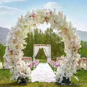 1 Meter Long Artificial Simulation Cherry Blossom Flower Bouquet Wedding Arch Decoration Garland Home Decor For Free Shipping