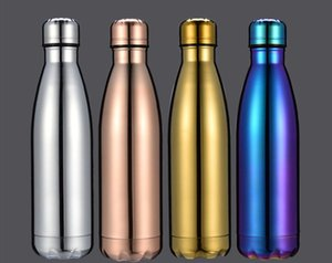 UV Holographic Planting Cola bottle water bottle double walled stainless steel 4 options mental insulated vacuum travel mug DHB656