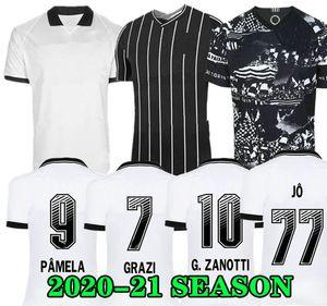 SENNA Rodriguinho 19 20 Maglia JO Jadson calcio 3RD casa bianca 2019 2020 RONALDO CORINTHIANSS KAZIM Maglia Brasile Calcistica nero