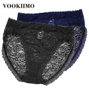 2Pcs pack Sexy Lace Panties Women Fashion Cozy Lingerie Tempting Briefs High-waist butt-lift Soft Cotton Intimates Underwear