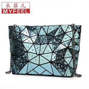 Water Drop laser lattice geometric bag diamond Diamond women's bag 2019 Winter new style