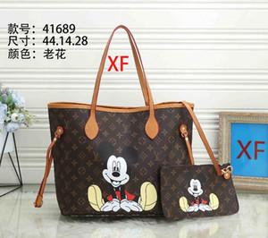 Medium size bag with wallet new fashion Women casual Handbags lady famous bag PU leather travel bags female purse 2pcs set