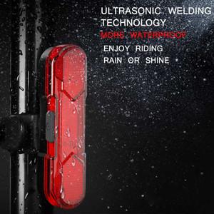 Coda posteriore della bicicletta Attenzione sicurezza Luce USB coda ricaricabile della bici della bicicletta LED di ricarica impermeabile Mountain semoventi