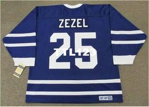رجل # 25 بيتر زيزيل تورونتو مابل ليفز 1991 CCM خمر الهوكي جيرسي أو العرف أي اسم أو رقم الرجعية جيرسي