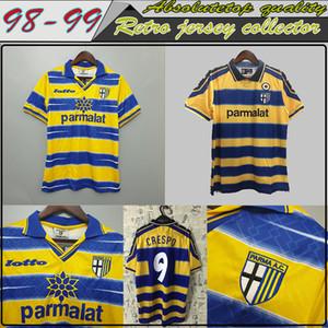كبار الرجعية خمر MAGLIA ماليي PARMA 1998 1999 2000 CRESPO ORTEGA BUFFON تورام تايلاند الجودة لكرة القدم قميص كرة القدم جيرسي