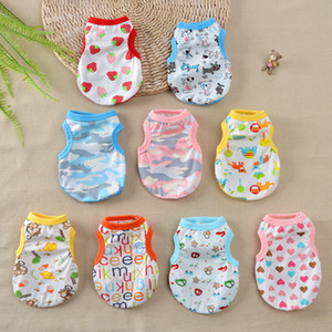 New Pattern Pets Summer Puppy Apparel Thin Dog Clothes Small Milk Kitty Poodle Vest Pet Dogs Accessories 4 5md D2