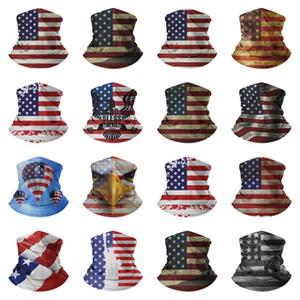 Bandana Amerikan bayrak atkı Sihirli Eşarplar çok fonksiyonlu Doğa Sporları Bisiklet Turban Türban Tasarımcı maskeler T2I51247 maske