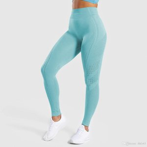 Sexcer Seamless High Waist Yoga Leggings Tights Women Workout Dot Breathable Fitness Clothing Female Stretchy Training Pants