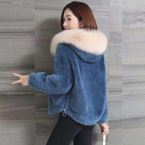Женская зима Толстые Теплый капюшоном Поддельный пальто дамы Поддельный Мех Teddy куртка утепленная Шинель пиджаки с меховой отделкой Hood T140