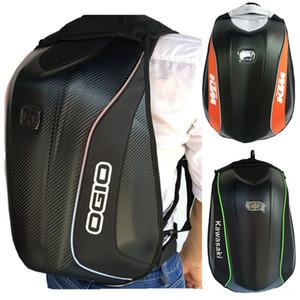 Caballero casco de prueba de agua caja dura mochila motocicleta bicicleta de la motocicleta KTM tortuga bolsa mochila bolsa de ciclismo