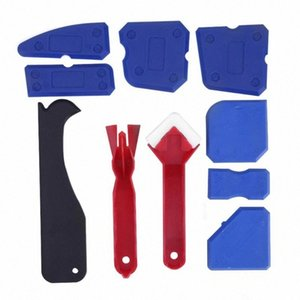10pcs Window Door Silicone Glass Cement Scraper Tool Home Remover Caulk Finisher Sealant Smooth Scraper Grout Kit Tools ssHX#