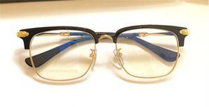 Nuovi occhiali design cromato H vetri ottici metà metallo mezzo foglio occhiaia occhiali da vista cornice retrò in stile pop CRH PLONKEP I