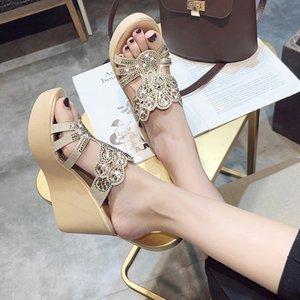 PUPUDA cuneo pantofole donne comode Chunky Platform pantofole all'aperto donne femminile 8,5 centimetri alti calza estate