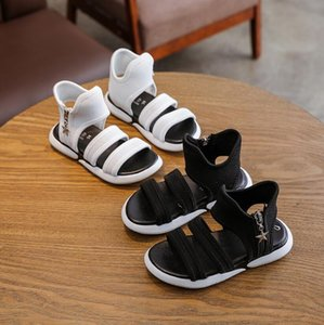 Children fashion sport sandals Baby comfortable sandals summer new boys girls beach shoes kids casual black white sandals Y200619