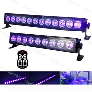 Dj Equipment UV Stage Light 9led 12led DMX512 Projection Lighting Party Club Disco Light for Christmas Hollowen Stage Effect Lights DHL