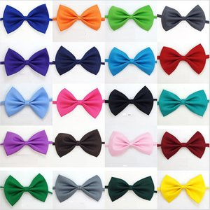 Pet Dog Collar Adjustable Bow Tie Neck Decor Necklace Collar Puppy Bright Color Pet Bow Mix Color Dog Apparel
