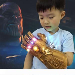 BRELONG Infinity War ПВХ Light Up перчатки Электронный Кулак Halloween Cosplay Реквизит 1 шт