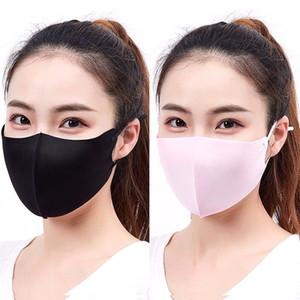 Взрослые Summer Ice Шелковой маска для лица Твердотопливных женщин Цвета Тонких Sunproof пылезащитных Велоспорт Рот-муфельной дышащие моющейся Регулируемой Респиратор