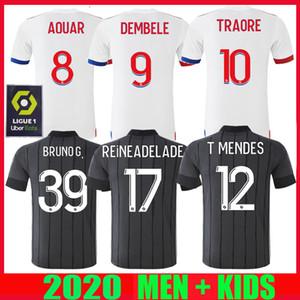 20 21 مايوه دي القدم اولمبيك ليون ليون لكرة القدم جيرسي 2020 2021 مينديز 70 الذكرى تراوري ممفيس عدة رجال الاطفال قمصان كرة القدم