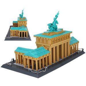 1552pcs 브란덴부르크 문 베를린 독일 빌딩 블록 모델 벽돌 장난감 선물 도시의 스트리트 뷰 (Street View) 유명한 건축 교육의 선물 03