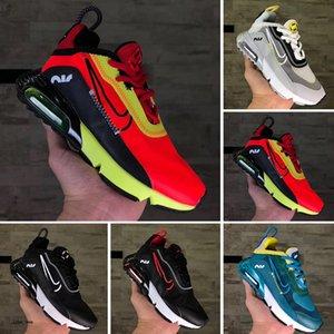 Nike Air Vapormax 2090 2019 Kanye West infantil argila 72 criança crianças Tênis de corrida estática GID chaussure de desporto derramar meninos enfant meninas Formadores Casual
