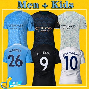 Человек Манчестер футбол Джерси-Сити 2021 Home Away Третий Майо De Foot КУН Агуэро Mahrez 20 21 STERLING Мужчины Дети Kit Футбол рубашка