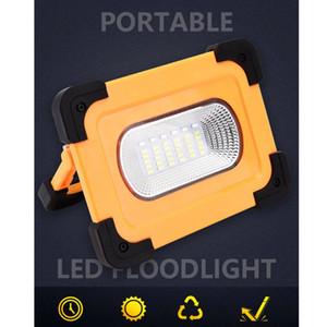 Solar recargable Luz de trabajo LED COB inundación de la lámpara que acampa portable impermeable del USB de Emergencia