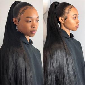 360 en dentelle pleine perruque de cheveux humains Pré Plucke pour les femmes noires du Brésil droite Lace Front perruques de cheveux humains Hd 360 Lace Frontal perruque Hd