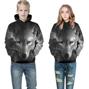 2020 European and American new 3D digital printing parent-child hooded children's sweater hot autumn and winter long Pullover basebal