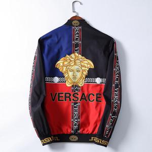chaqueta de primavera y otoño impresión de la moda camisa Fit chaqueta de cremallera de la cazadora de béisbol de los nuevos hombres de los hombres de los hombres casuales