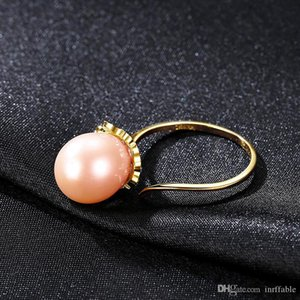Freshwater Pearl Ring Vintage 925 Sterling silver rings Natural Pearl Fine Jewelry Adjustable 925 ring hyperbole Freshwater