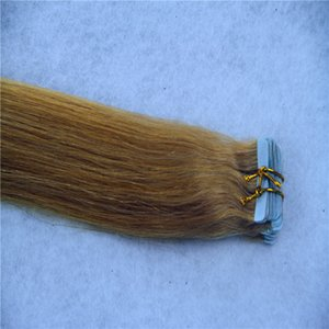 Bleach Blonde Color Tape In Human Hair Extensions Skin Weft Straight Hair Machine Remy Hair Extensions 10-36 Inchs 20pc 40pcs 100g