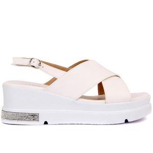 Broken-Moxee color blanco de las mujeres sandalias