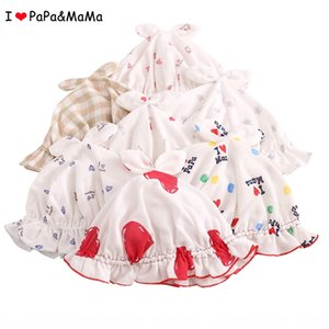 I love mom and dad thin Parents' tulle gauze sun hat newborn baby male and female baby outdoor sun hat