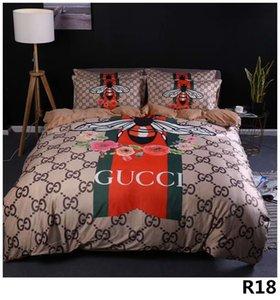 وصفت رسالة طباعة حالات النسيج مجموعة مفروشات للأوراق مصمم السرير القطن أزياء غطاء وسادة لينة كلاسيكي غطاء لحاف