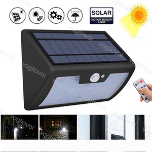 Solar Security Lights Motion Sensor 40LEDs Waterproof With Controller 6 Model ABS 120 Bean Angles For Outdoor Garden Street Yard Garage DHL