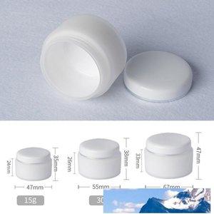 İç Liner Kapaklı Beyaz PP Kozmetik Kavanoz El Yüz Kremi Plastik Kavanoz 15g 30g 50g Kozmetik Numune Plastik Konteyner