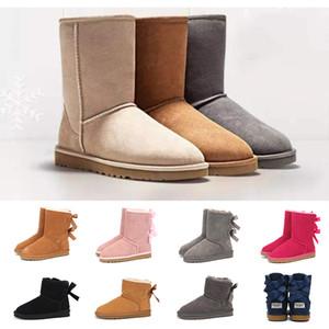 2020 новоприбывших Австралийские ботинки для женщины лодыжка колена высоких меховых ботинок платформы повелительницы девушка снежок ботинки классических тренеры кроссовок