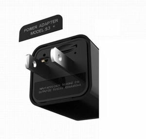 WIFI AC DC Adaptor Mini IP camera P2P 1080P hidden plug charger DVR pinhone camera Home Security charger camera remote monitor Cam Black