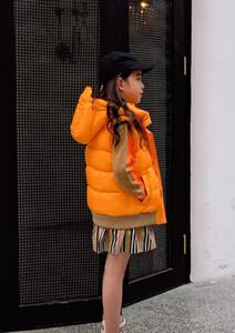 Новая осень зима мальчиков девочек жилет куртка Дети малышей с капюшоном Ветровка вниз Пальто Дети Zipper Верхняя одежда 4 цвета
