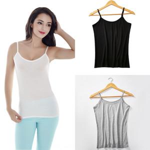 Underpants altında c6IBk Kaşkorse kadın yaz siyah-beyaz küçük askı taban gömlek kolsuz iç çamaşırı göğüs görüntüleme Insi külotunu