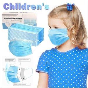 Máscaras desechables cara de los niños niños de Protección Infantil Máscara 3-capa de filtración