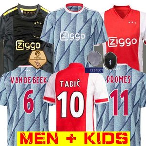 20 21 Ajax maillot de football Promes 2020 2021 camiseta de futbo VAN DE BEEK TADIC ZIYECH FOOTBALL SHIRT HOMME ENFANT SETS 50E uniforme NERES